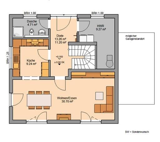Stadtvilla Pura Floorplan 1