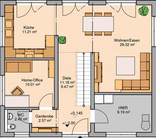 Stadtvilla Signus Floorplan 1