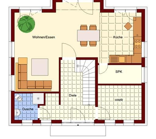 Stadtvilla Strausberg Floorplan 1