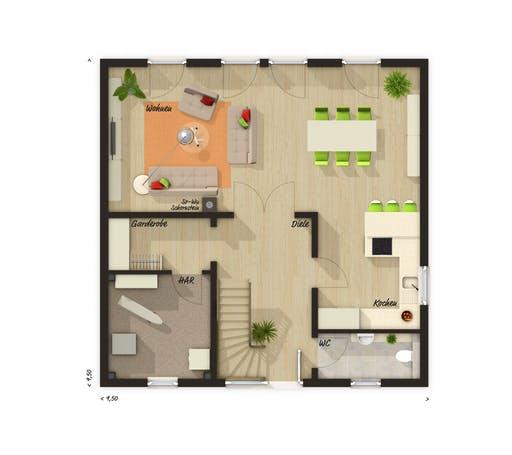 Stadtvilla 145 Trend Floorplan 1