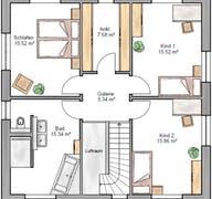Stadtvilla 155 Grundriss