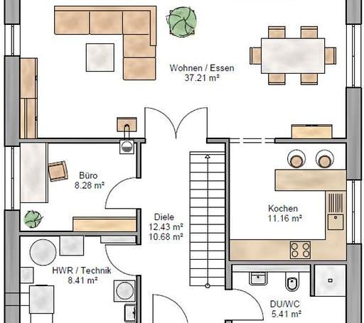 Stadtvilla 161 Floorplan 1