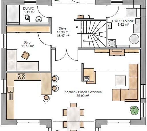 Stadtvilla 189 Floorplan 1