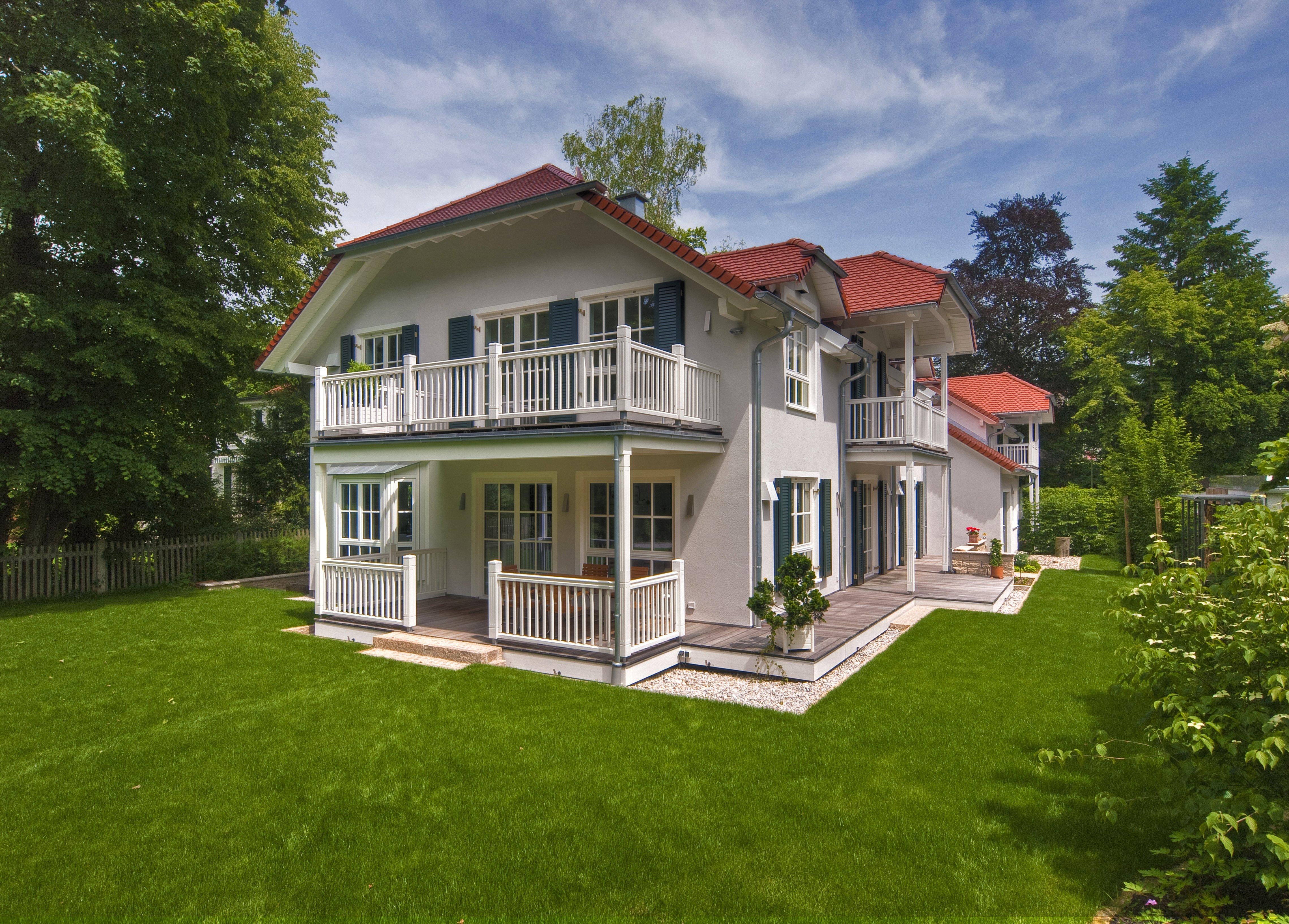 Fertighaus landhaus villa  Steinhauser (KfW-Effizienzhaus 55) von Baufritz | komplette ...