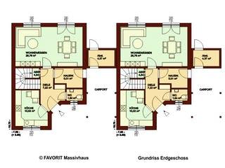 Stella E106 von Favorit Massivhaus Grundriss 1