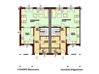 Stella E113/M115 von Favorit Massivhaus Grundriss 1