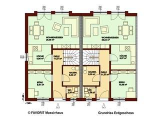Stella E118/M122 von Favorit Massivhaus Grundriss 1