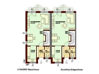 Stella E141/M146 von Favorit Massivhaus Grundriss 1