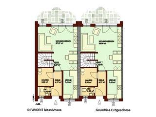 Stella E145/M150 von Favorit Massivhaus Grundriss 1