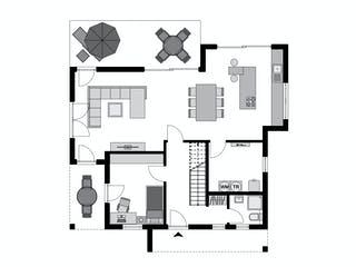 Klassiker CITY Gestaltungsidee GL 04 von STREIF Haus Grundriss 1