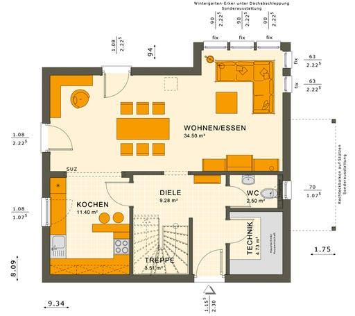 Sunshine 125 V2 Floorplan 1