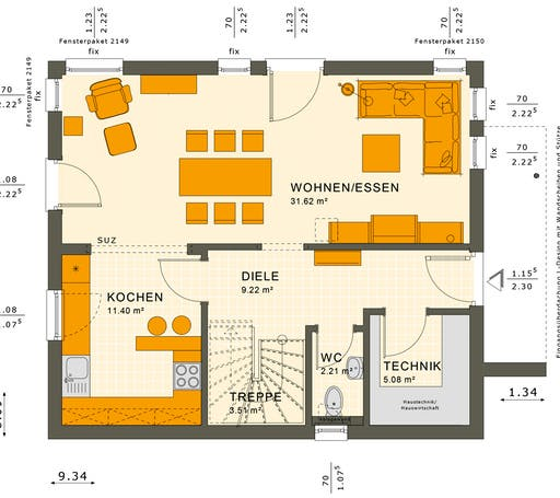 Sunshine 125 V4 Floorplan 1