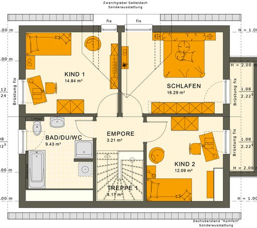 Sunshine 125 V4 Floorplan 2