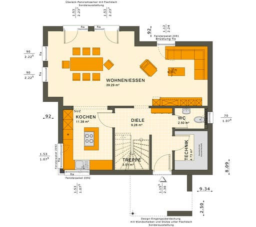 Sunshine 125 V5 Floorplan 1