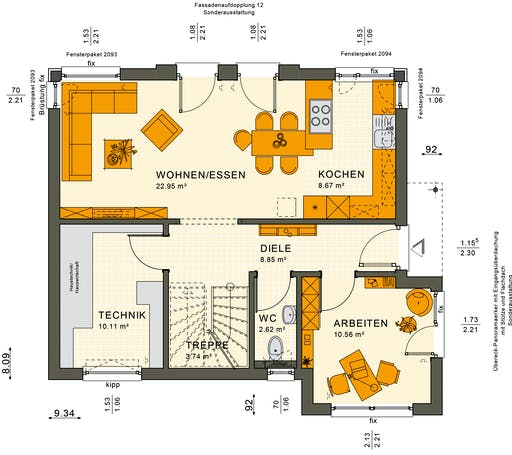 Sunshine 125 V6 Floorplan 3