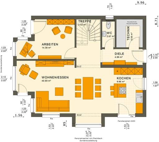 Sunshine 143 V4-V5 Floorplan 1