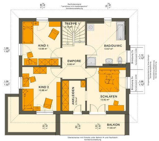Sunshine 143 V6 Floorplan 2