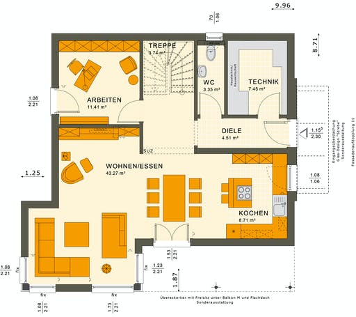 Sunshine 143 V6 Floorplan 3