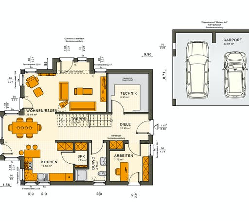 Living Haus - SUNSHINE 144 V3 Floorplan 1