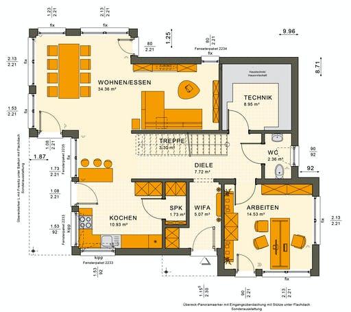 Living Haus - SUNSHINE 144 V6 Floorplan 1