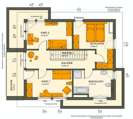 Living Haus - SUNSHINE 144 V6 Floorplan 2