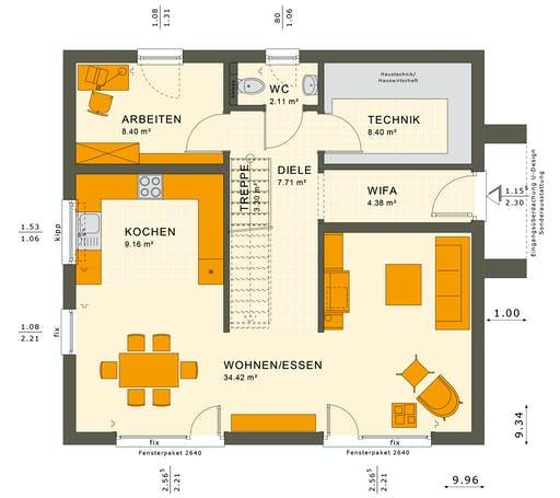 Living Haus - SUNSHINE 154 V3 Floorplan 1