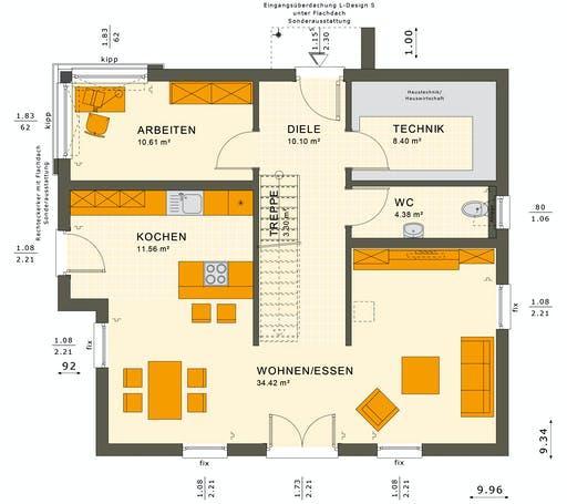 Living Haus - SUNSHINE 154 V5 Floorplan 1