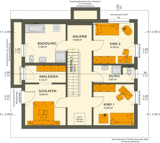 Living Haus - SUNSHINE 154 V5 Floorplan 2