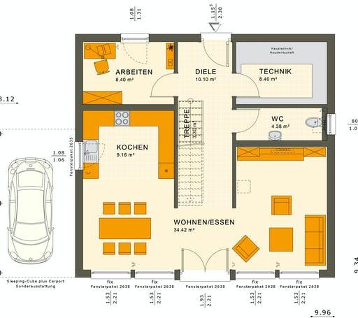 Living Haus - SUNSHINE 154 V7 Floorplan 1