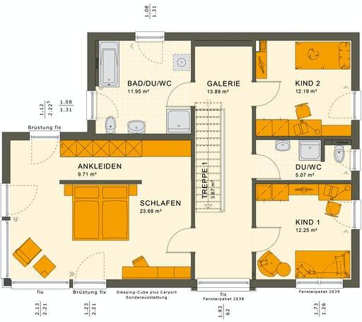 Living Haus - SUNSHINE 154 V7 Floorplan 2