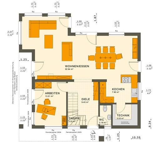 Sunshine 165 V4-V5 Floorplan 1