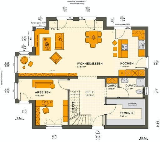 Sunshine 165 V6 Floorplan 3