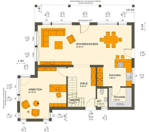 Sunshine 165 V7 Floorplan 1