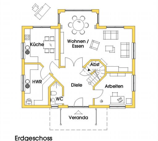 svanhild 2 kfw effizienzhaus 40 von dammann haus. Black Bedroom Furniture Sets. Home Design Ideas