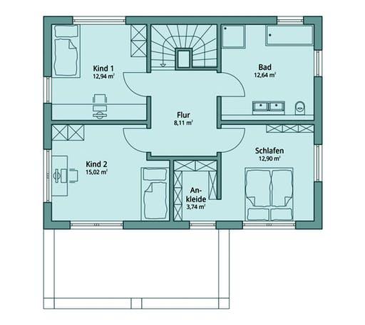 Talbau-Haus 112 Floorplan 2