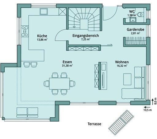Talbau-Haus 114 Floorplan 1