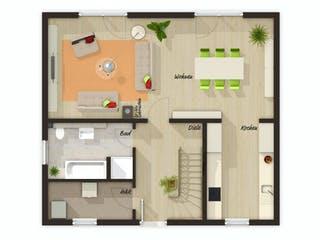 Aktionshaus Aspekt 133 von Town & Country Haus Grundriss 1