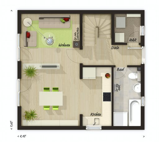 Town & Country - Aspekt 90 Floorplan 1