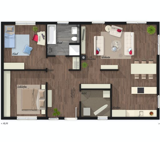 Town & Country - Bungalow 100 Floorplan 1