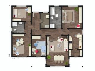 Bungalow 128 von Town & Country Haus Grundriss 1