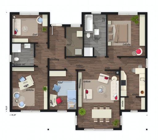 Town & Country - Bungalow 118 Floorplan 1