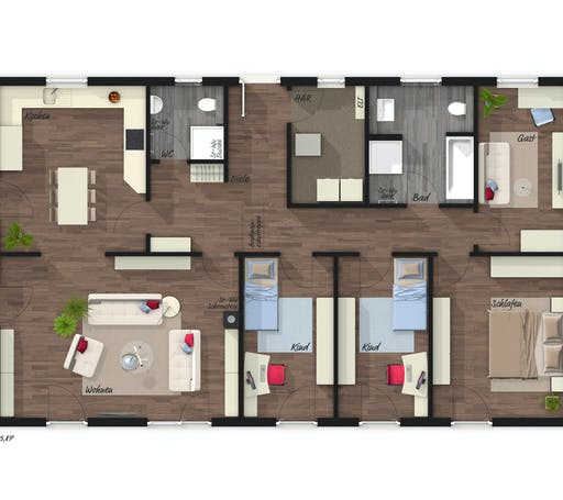 Town & Country - Bungalow 131 Floorplan 1