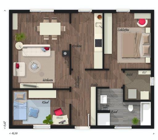 Town & Country - Bungalow 78 Floorplan 1