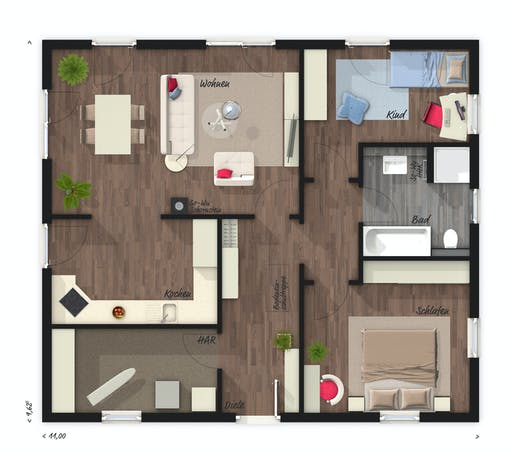 Town & Country - Bungalow 92 Floorplan 1