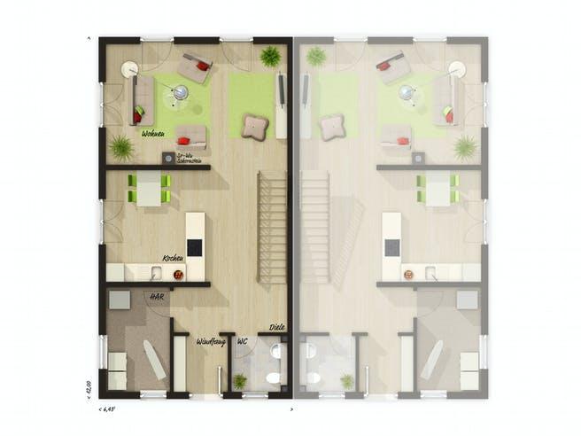 DH Aura 125 von Town & Country Haus Deutschland Grundriss 1