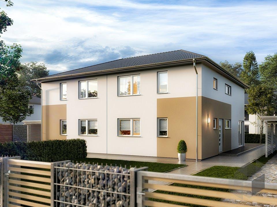 DH Aura 136 von Town & Country Haus Deutschland Außenansicht