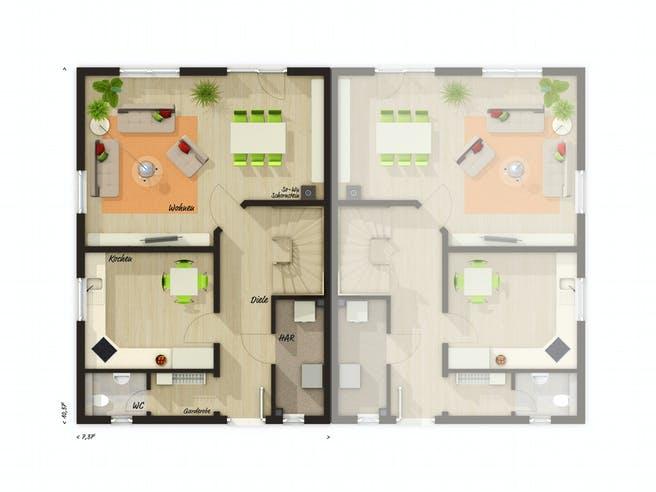 DH Behringen 116 von Town & Country Haus Grundriss 1