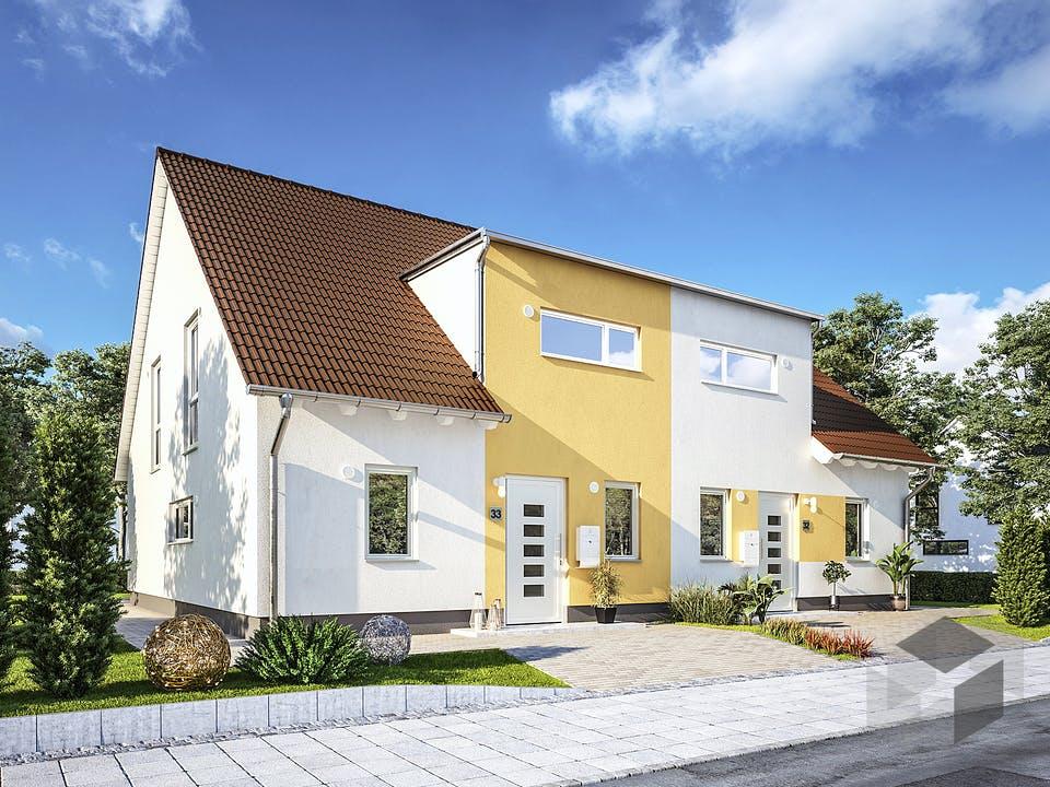 DH Duett 125 von Town & Country Haus Deutschland Außenansicht