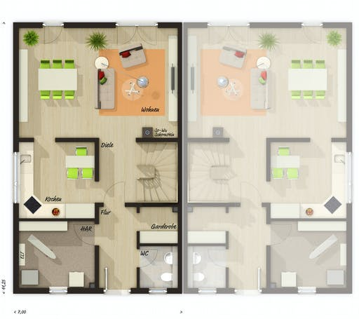 Town & Country - DH Duett 125 Floorplan 1