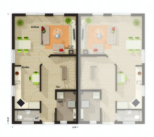 Town & Country  - DH Mainz 128 Floorplan 1